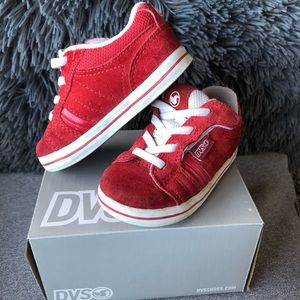 DVS Red infant Toddler Sneakers Size 6